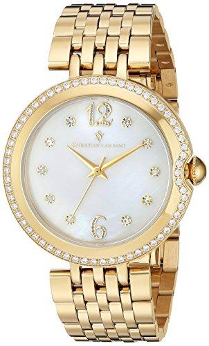 Christian Van Sant Women's 'Jasmine' Quartz Stainless Steel Casual Watch, Color:Gold-Toned (Model: CV1615)