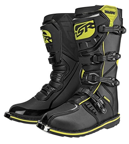 Mens Boots Msr - MSR 361369 VXIIR Boots, Primary Color: Black, Size: 13, Distinct Name: Black/Hi-Viz Yellow, Gender: Mens/Unisex