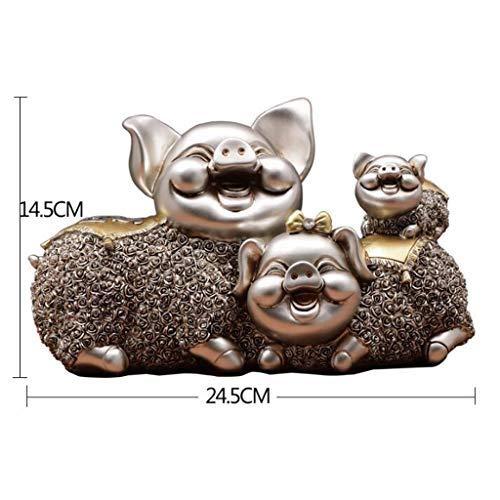 Decoration Pig Ornament Sculpture Decoration, Crafts Living Room Wine Cooler, Children's Gift Decoration