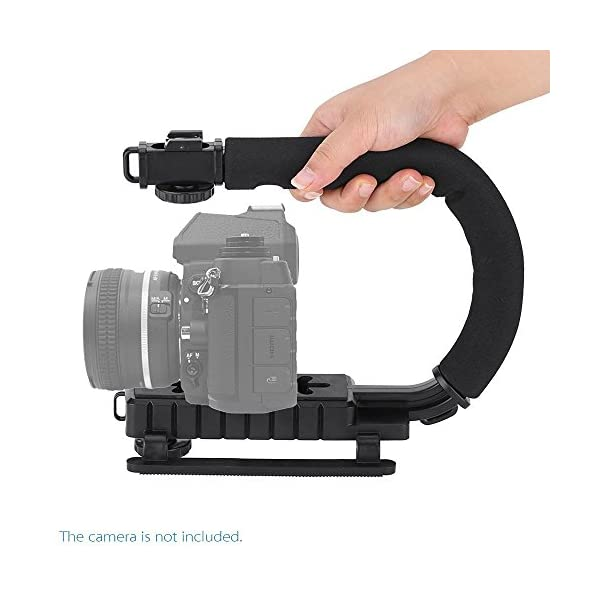 Yantralay YT-DA8 U Shape Professional Handy Video Grip Action Stabilizer Handle for DSLR and Camcorders (Black) 1