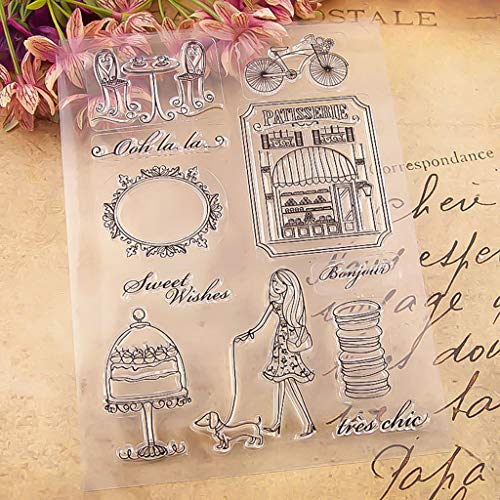 - Euone Home, Transparent Stamp Silicone Seal DIY Clip Art Album Decoration 15.5×21cm