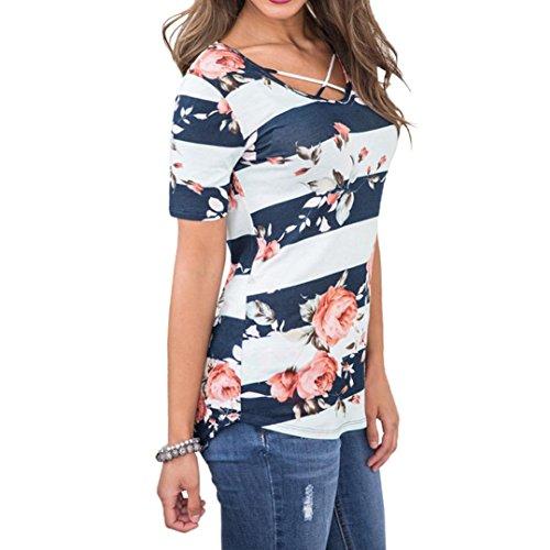 Sanfashion Donna Multicolore Shirt155 Blu Damen Ballerine Bekleidung FnFwC