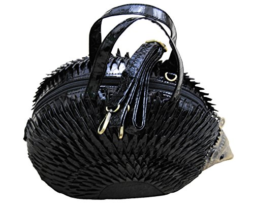 Shaped Ladies Novelty Hedgehog Black Handbag Shoulder Bag 5qqFZ7nzP