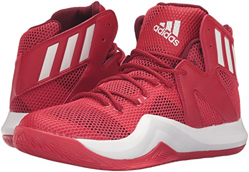 Image of the adidas Men's Crazy Bounce Basketball Shoes, Scarlet/White/Cardinal, (11 M US)