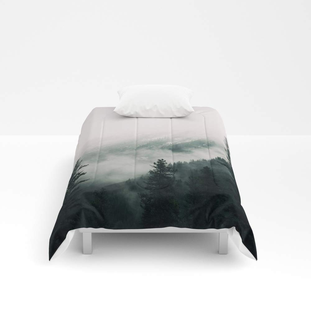 Society6 Comforter, Size Twin XL: 68'' x 92'', Over The Mountains and Trough The Woods - Forest Nature Photography by staypositivedesign