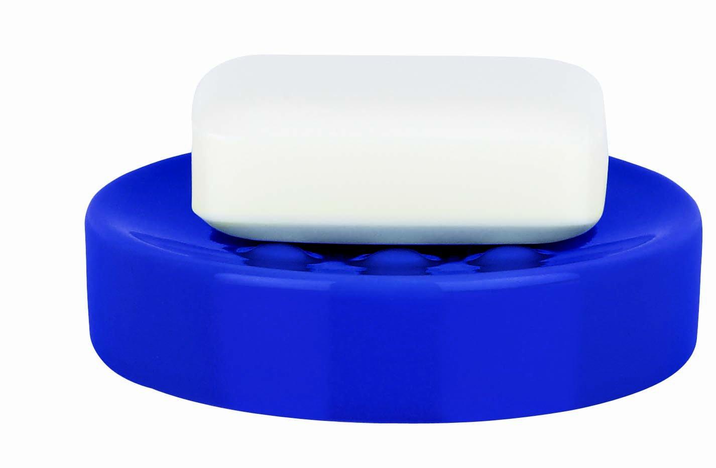 Spirella-Porta saponetta in ceramica Tube, colore: blu Navy 10.16070