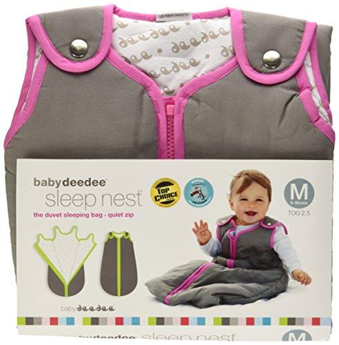 Baby deedee Sleep Nest Baby Girls Baby Sleeping Bag, Wearable Blanket Sleeper , Slate Hot Pink, Medium