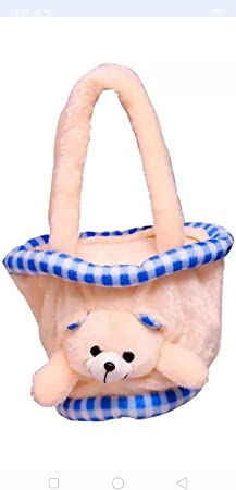 Jassi Toy Soft Toys Kids Purse Hand Bag for Kids (Cream)