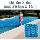 Linxor France ® Bâche à bulles sur mesure 300 microns / 39 tailles disponibles / Norme CE