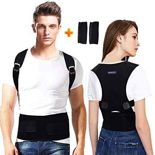 Back Brace Posture Corrector for Men - Medical Posture Brace for Women - Best Adjustable Back Corrector Provides Lumbar Support - Lower & Upper Back Pain Relief - Shoulder Kyphosis Posture Device(S)