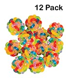 Colorful Intertwined Rubber Balls - Pack Of 12 - 1.5 Inches - Vibrant Colored Stress Balls – For Kids And Adults Great Party Favors, Bag Stuffers, Fun, Toy, Gift, Prize – By Kidsco