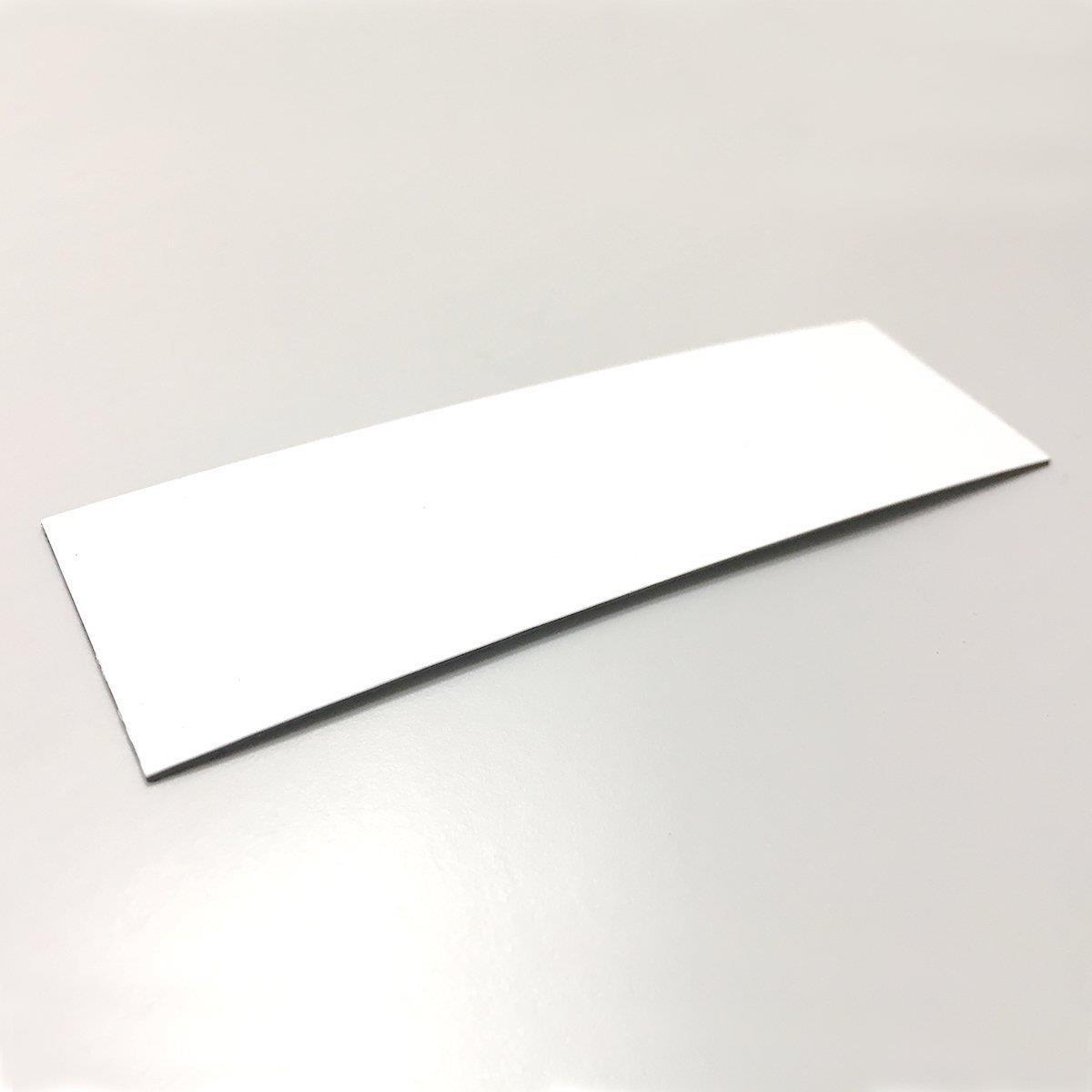 MAGSTICK - 50 etichette magnetiche da 0,85 mm, 100 x 30 mm, scrivibili, colore: Bianco bianco easydruck24de