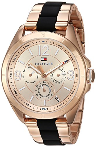 Tommy Hilfiger Women's 'SOPHISTICATED SPORT' Quartz and Stainless Steel Casual Watch, Color Rose Gold-Toned (Model: 1781770)