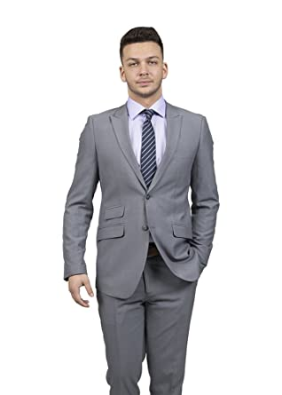 bec3222f2a5 Amazon.com  Viefranco Men's Slim Fit Black Suit (40R)  Clothing