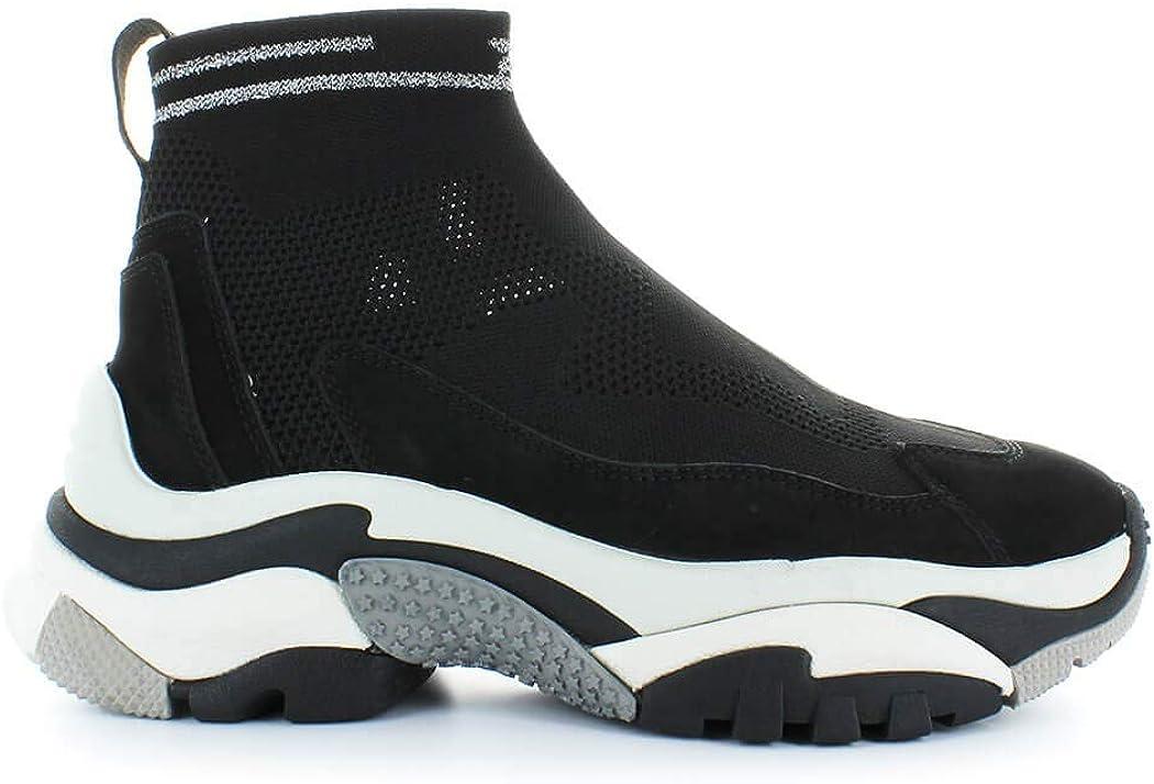 Ash Women's Shoes Black Addict Stretch