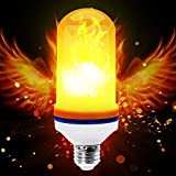 Flame Fickering LED Lights Bulbs, Sanwo LED E26 2835 LED Beads Realistic Fire Flameing Flicker Effect Light Bulb with Atmosphere Lighting Vintage for Home Holiday Decoration/Hotel / Bars(3 Models)
