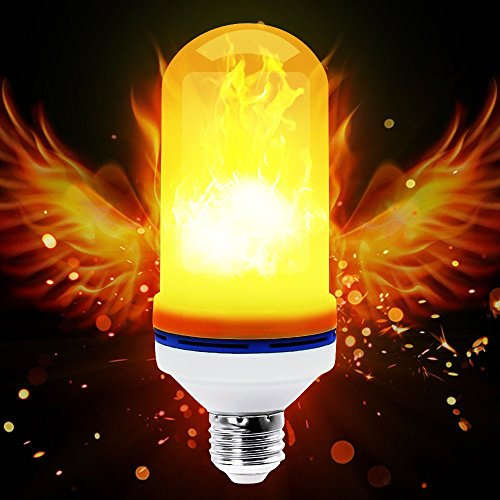 Flame Fickering LED Lights Bulbs, Sanwo LED E26 2835 LED Beads Realistic Fire Flameing Flicker Effect Light Bulb with Atmosphere Lighting Vintage for Home Holiday Decoration/Hotel / Bars(3 Models) by Sanwo