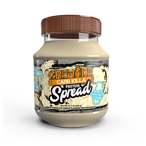 Grenade Carb Killa Protein Chocolate Spread | 7g High Protein Snack | Keto Friendly Low Net Carb Low Sugar | No Stir | White Chocolate Cookie, 12.7oz (Calories In A Slice Of Banana Nut Bread)