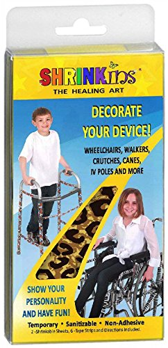 Medical Device Decorating Cover Kit~ Fun Fashionable Shrink Wrap Decorations for Walkers Wheelchairs Canes Crutches ~ TEMPORARY Uses No Adhesive by Shrinkins The Healing Art - TEEN & CHILD