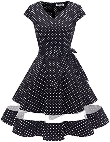 85f1234916e5 Gardenwed Women's Vintage 1950s Retro Rockabilly Swing Dress Cocktail Dress  With Sleeves