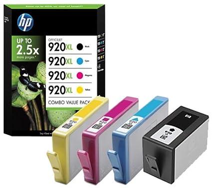 HP 920XL - Cartucho de Tinta para impresoras (Negro, Cian, Magenta ...