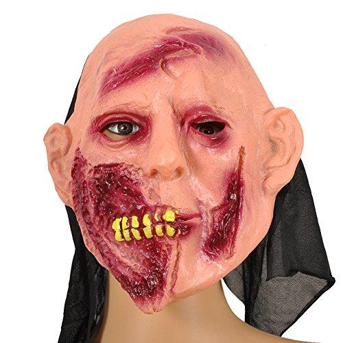 Scarface Mask (Pusheng Scary Witch Zombie Halloween Costume Mask ScarFace)