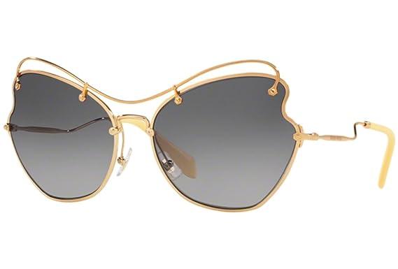 Miu Miu 0MU56RS 7OE3E2 65 Gafas de sol, Dorado (Antique Gold ...