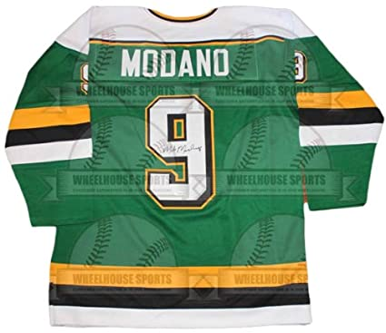 purchase cheap 6545a 0fa43 Mike Modano Autographed Hand Signed Custom Minnesota North Stars Jersey -  JSA COA