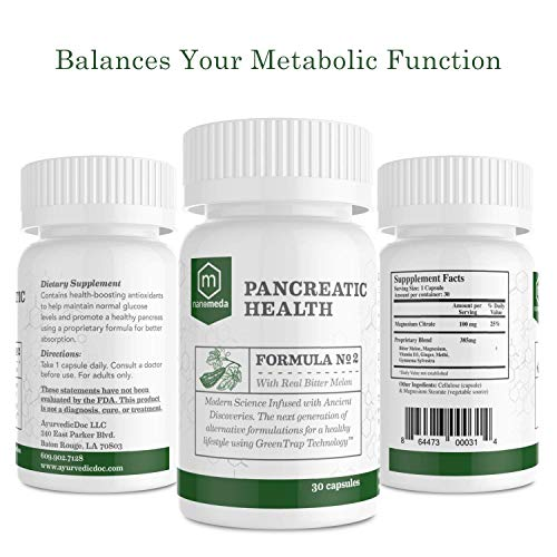 Pancreatic Health Ayurvedic Supplement with Real Bitter Melon – Antioxidants to Maintain Glucose Levels and Increase Insulin Resistance – 30 Capsules Review