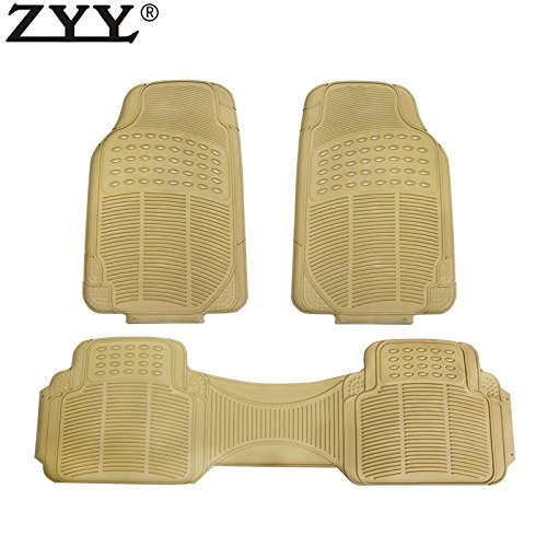 - MGPRO 3x Heavy Duty Weather Trimmable PVC Rubber Beige Car Floor Carpet Mats For Dodge Lincoln Ram