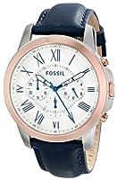 Fossil Men's FS4930 Grant Analog Display Analog Quartz Blue Watch by Fossil