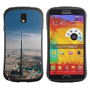 LASTONE PHONE CASE / Suave Silicona Caso Carcasa de Caucho Funda para Samsung Note 3 N9000 N9002 N9005 / Architecture Dubai Skyscraper