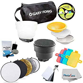 Image of Accessory Bundles Gary Fong Fashion and Commercial Lighting Flash Modifying Kit With Neewer 110CM 43-Inch 5-in-1 Collapsible Multi-Disc Light Reflector, Silver, Gold,White, Black, & Translucent in Case For CANON 540EX 420EX 550EX 430EX 580EX 580EX II 430E