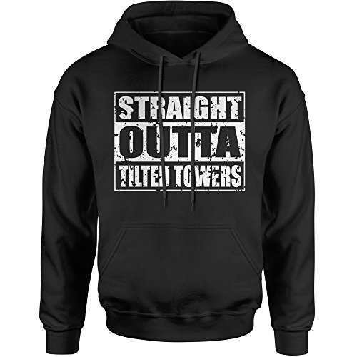 Hoodie Straight Outta Tilted Towers Adult X-Large Black