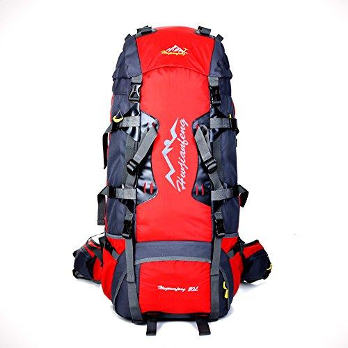 ライディングバックパック防水アウトドア旅行リュックサックハイキングデイパックトレッキングバックパック男性用女性スキー、ランニング、サイクリング、サイクリング、ハイキング、登山、狩猟に最適 (Color : Red)  Red B07R55ZT64