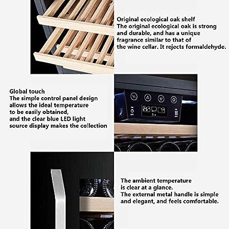 Vinotecas Integrables 22 Botellas De Servicio 53L Construir Pequeñas Profesional Inox Termo Eléctrico De Refrigeración Bodega Multi Temperatura 5-18℃, Silenciosa, Contra Los Rayos UV Puerta De Vidrio