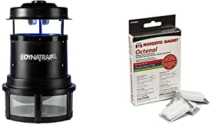 DynaTrap DT2000XL Extra-Large Insect Trap 2 UV Bulbs, 1 Acre, Black & Mosquito Magnet Octenol Biting Insect Attractant, 3 Count