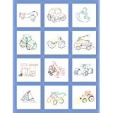 Fairway 92317 Baby Quilt Block, Toy Design, Twelve Blocks, White