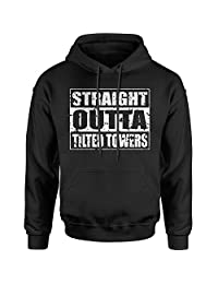 Expression Tees Straight Outta Tilted Towers Unisex Adult Hoodie