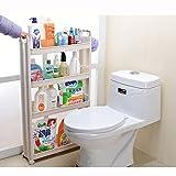 Kitchen Cabinet Storage Solutions Yontree Update Version 4-Tier Gap Storage Tower Rack Shelf with Wheels