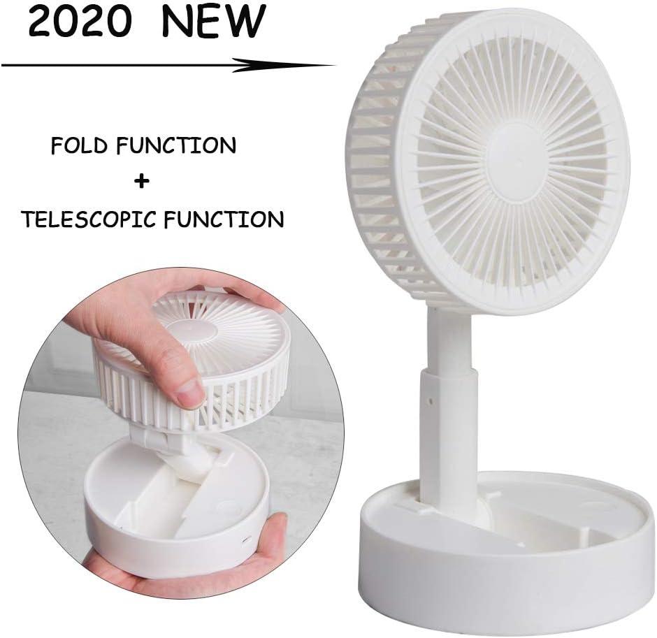 2020 Ventilador De Escritorio De Mano, Ventilador PortáTil, Ventilador Electrico, Fan De Viajes, Ventilador De Soporte De TeléFono MóVil Usb Multifuncional TelescóPico Plegable