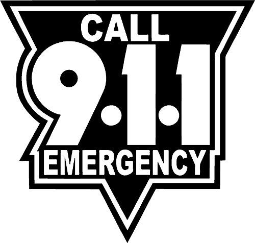 911 Sticker Decal (can do any color messsage me ) All of our stickers and decals can be made Yeti cup size to at least back glass vehicle size , just message us and we will make you a listing on Amazon of what you want . -