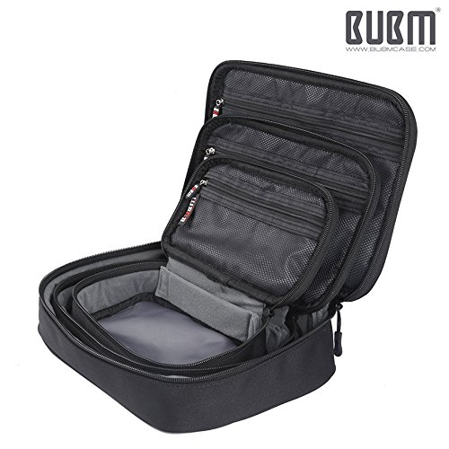 Travel Electronics Organizer Bag - BUBM Portable 3 pcs/Set Gadget Carrying Storage Bag,Cable Organizer Cases for USB Cables, Hard Drive,Memory Card,Power Bank,External Flash,2 Year Warranty by BUBM (Image #5)