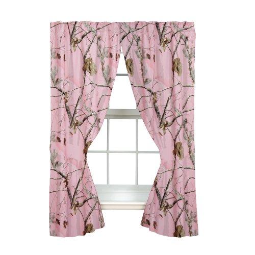 Realtree AP Pink Rod Pocket Drape, 2 Panels, 2 Tie-backs, 63 Inch