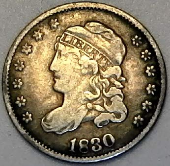 - 1830 P Silver Capped Bust Half Dime Very Fine