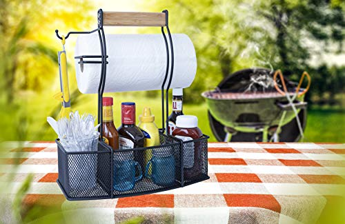 Steel Caddy For Paper Towels and Condiments