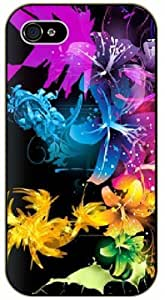 The color of the art - iPhone 4 / 4s black plastic case / Flowers and Nature, floral, flower