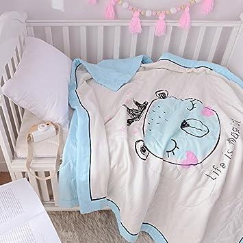 Amazon.com: Kids Cute Cartoon muselina Colcha Comforter Thin ...