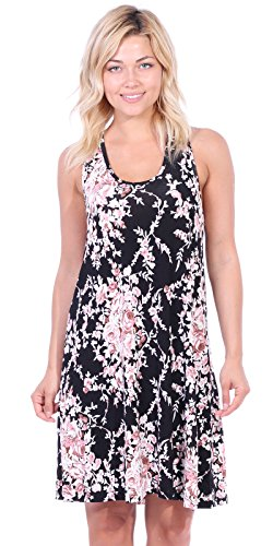 Beach Dresses Women's Casual USA in Tank Sundress Made St57 Popana Floral Summer Midi w0qX0fU