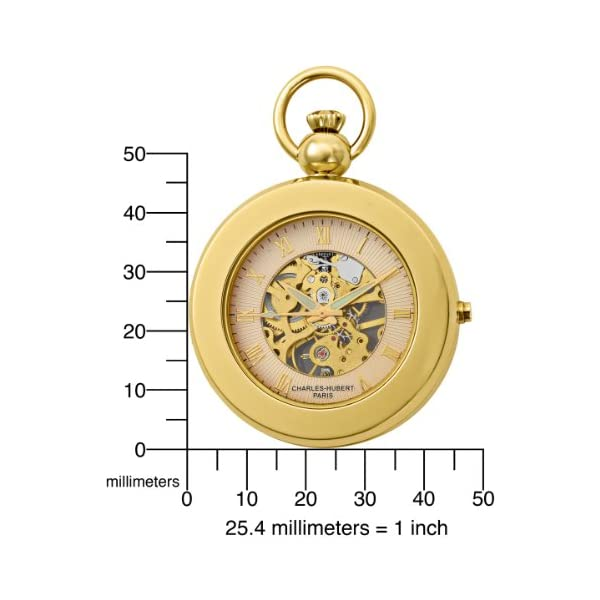 Charles-Hubert-3848-Gold-Plated-Mechanical-Picture-Frame-Pocket-Watch
